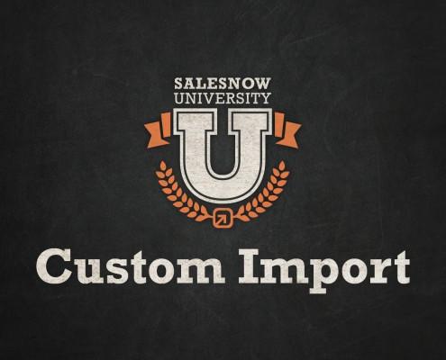 custom import